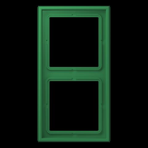Рамка на 2 поста. Цвет Vert foncé. JUNG Les Couleurs® Le Corbusier. LC98232050