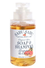 Натуральный гель для душа и шампунь 2 в 1 с маслами грейпфрута и апельсина, Sabu-Sabu
