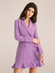 Платье-пиджак с воланом