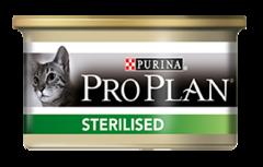 Консервы Purina Pro Plan STERILISED, для стерилизованных кошек и кастрированных котов, с тунцом и лососем