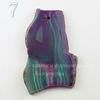 Подвеска Срез Агата (тониров)(цвет - фиолетовый с зеленым) 51-66 мм