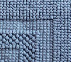 Коврик для ванной 70х120 Luxberry Универсальный голубой