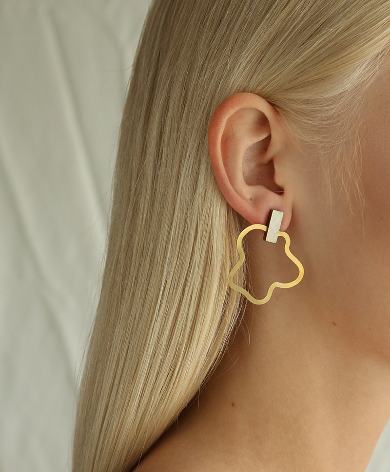Серьги Aalto Earrings Mother of Pearl