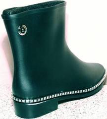 Удобные резиновые сапоги женские низкие Hello Rain Story 1019 Black.