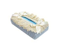 Салфетница для бумажных полотенец 12х24 Old Florence Rombetti голубая