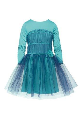 Pelican GDJ486 Платье для девочек нарядное цвета морской волны