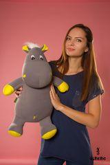 Подушка-игрушка антистресс «Бегемот Няша», желтый 2