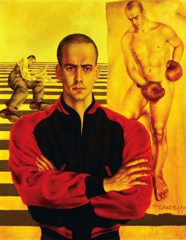 Павевл Челищев. Портрет Линкольна Кирстена. 1937.
