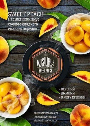 Табак Must Have Sweet Peach Сладкий Персик 125 гр