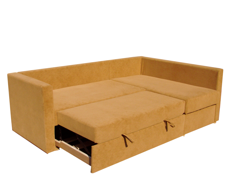 Угловой диван-кровать Карелия 2д2Я, спальное место 138х203 см