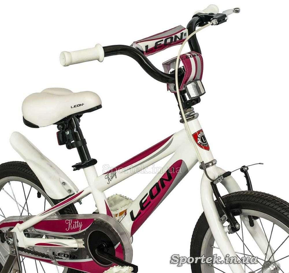 Вилка и сидение детского велосипеда Leon Kitty (Леон Китти) для девочек 3-5 лет
