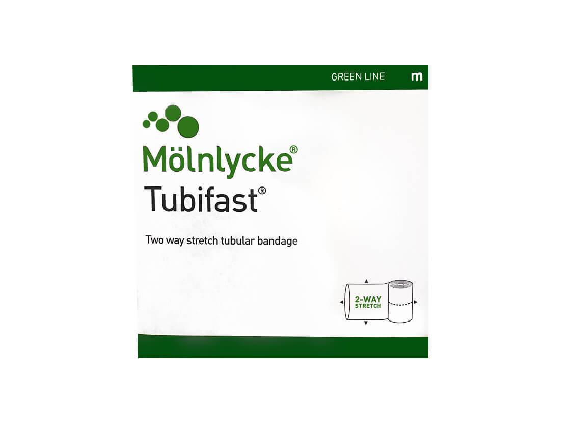 Тубифаст (Tubifast) зеленая линия 5см х 10м, 2 шт в наборе