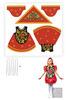 Хохлома детская Матрешка (комплект для пошива)