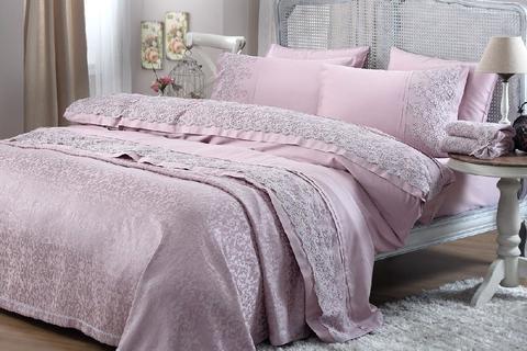 Постельное белье Gelin Home NARIN темно-розовый евро