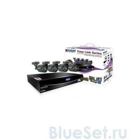 Система видеонаблюдения KGuard EasyLink 960H 8Ch + 4Cam 600TVL (EL821-4HW212B)