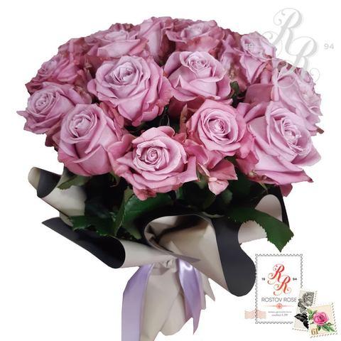 Букет 25 местных сиреневых роз