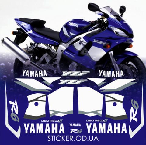 Набор виниловых наклеек на мотоцикл YAMAHA YZF-R6 2001