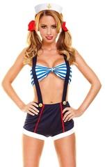 Интимный костюм морячки из 5 предметов