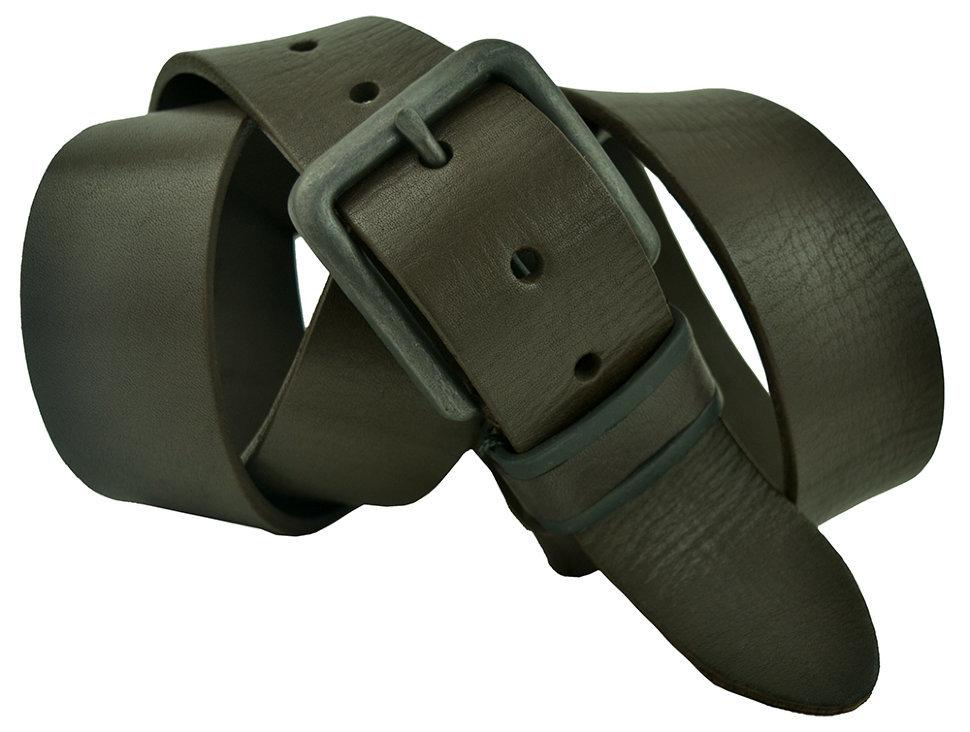 Ремень мужской кожаный тёмно-коричневый 40 мм для джинс 40Sevaro-250