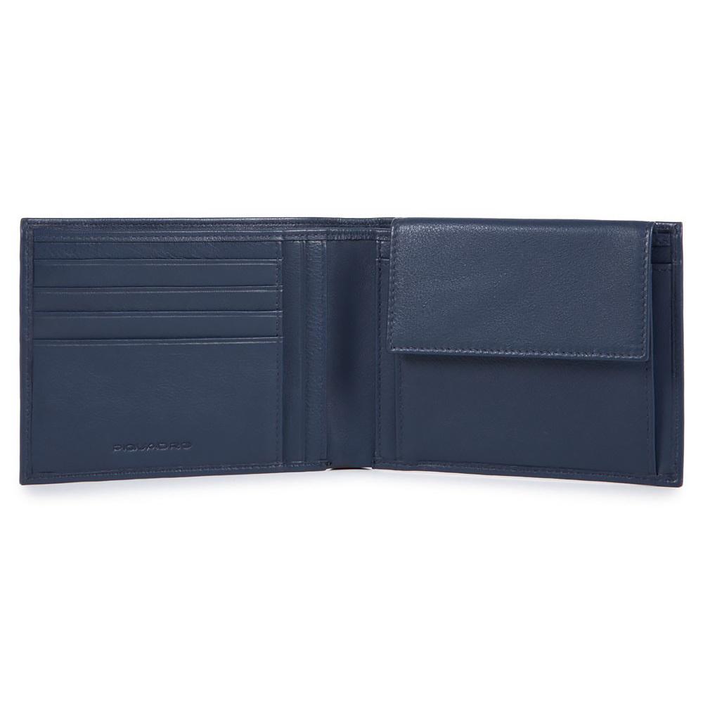 Кошелек Piquadro Edge, цвет синий, 12,5x9x2 см (PU257ED/BLU)