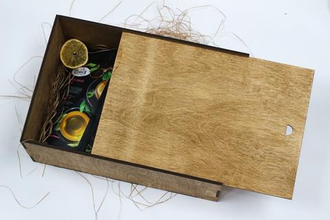 Набор зелёных чаёв в деревянном коробе