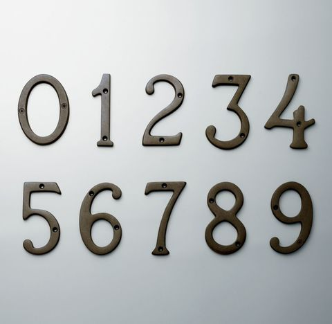 Standard House Numbers