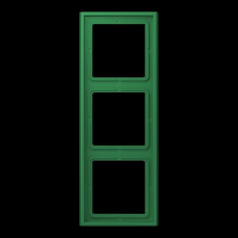 Рамка на 3 поста. Цвет Vert foncé. JUNG Les Couleurs® Le Corbusier. LC98332050