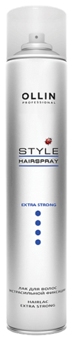 OLLIN Лак для волос экстрасильной фиксации 450 мл