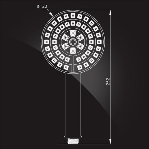 Лейка душевая Elghansa HAND SHOWER MR-073-Chrome 120 мм, хром