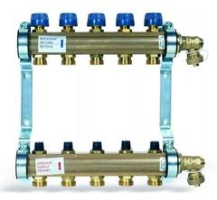 Коллектор Watts HKV-5 (на пять контуров) для радиаторного отопления 10004178