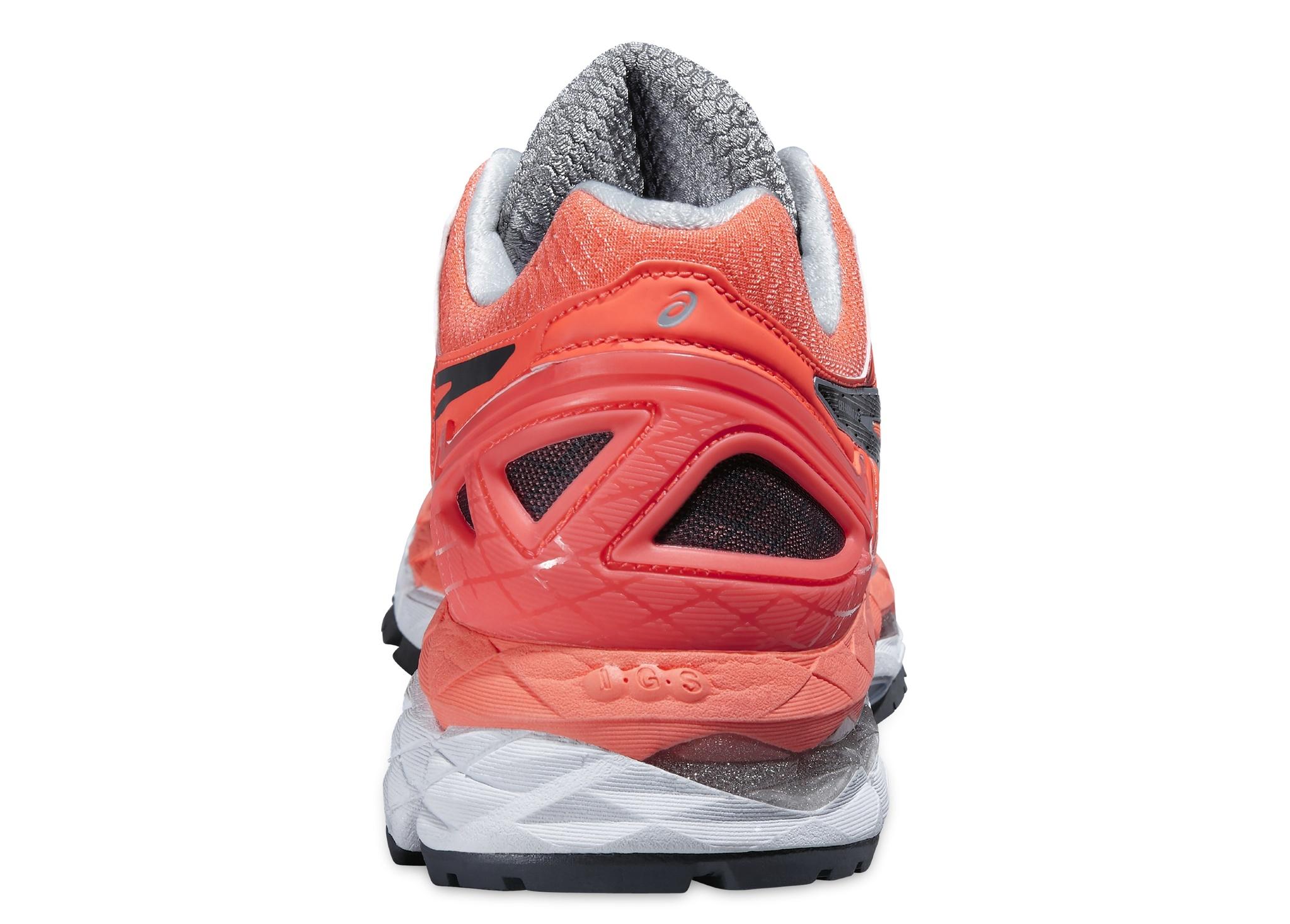 Женские кроссовки для бега Asics Gel-Kayano 22 (T597N 0697) оранжевые пятка