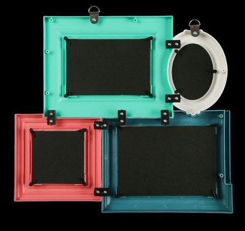 Фоторамка пластик на 4 фото 9х6, 9х9, 10х15, 13х18 см