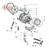 Болт крепления шкива для стиральной машины Indesit/Ariston - 143260