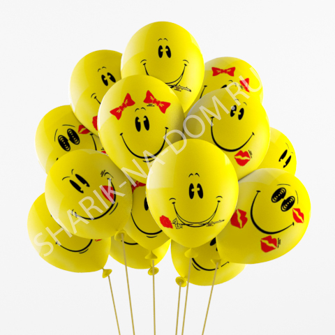 """С рисунком Воздушные шары """"Улыбки"""" Шары_Улыбка.jpg"""