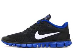 Кроссовки Мужские Nike Free Run 3.0 V2 Black Blue White