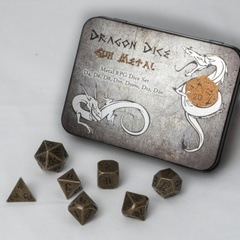Blackfire Dice Metal Dice Set Gun Metal