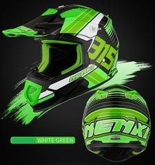 Шлем для мотокросса NENKI Hot Pistons, зелёный-чёрный