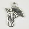 """Подвеска """"Голова лошади"""" 21х18 мм (цвет - античное серебро)"""