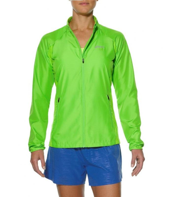 Женская ветровка для бега Asics Woven Jacket (110426 0473) лайм фото