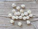 Роза объемная из смолы мини, 0,7 см, 5 шт.