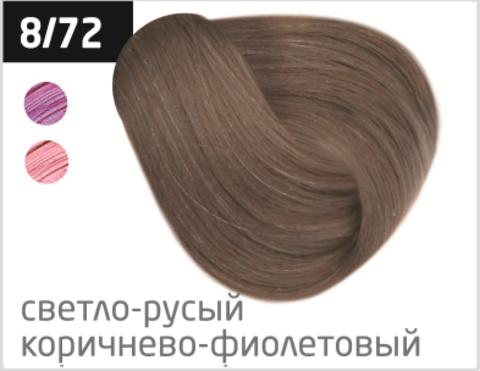 OLLIN performance 8/72 светло-русый коричнево-фиолетовый 60мл перманентная крем-краска для волос