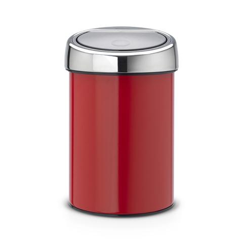 Мусорный бак Brabantia Touch Bin (3л), Пламенно-красный, арт. 364426 - фото 1