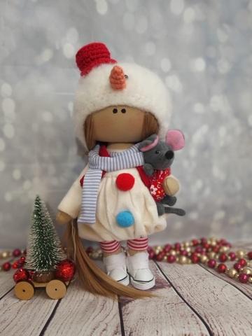 Текстильная Кукла Снеговичёк