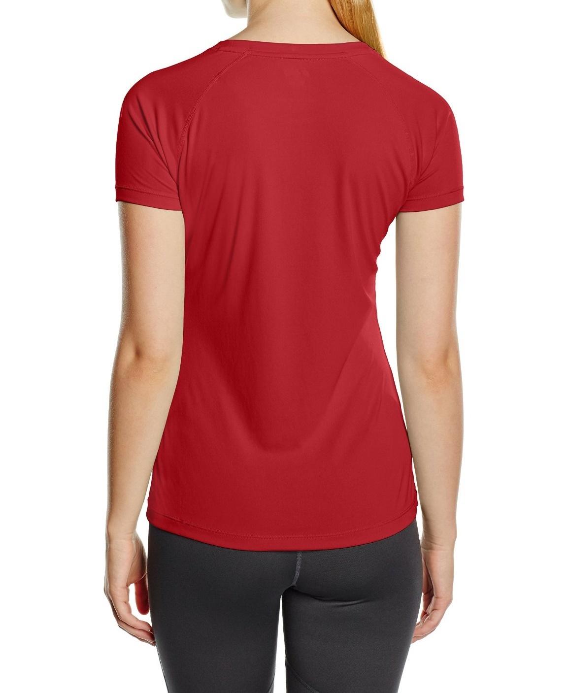 Женская футболка для бега асикс  Stripe SS Top (126232 6010) красная