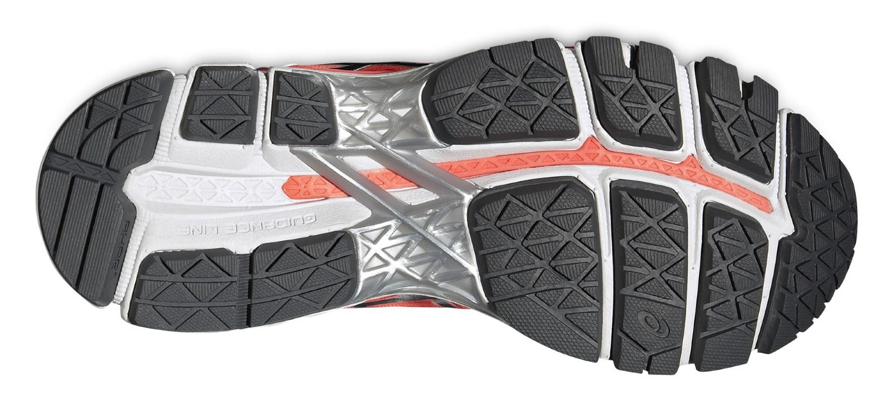 Женские беговые кроссовки Asics Gel-Kayano 22 (T597N 0697) оранжевые подошва