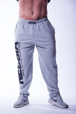 Мужские брюки Nebbia HardCore Fitness 510 light grey