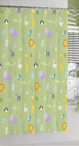 Шторка для ванной детская 183х183 Kassatex Zoo Friends Garden