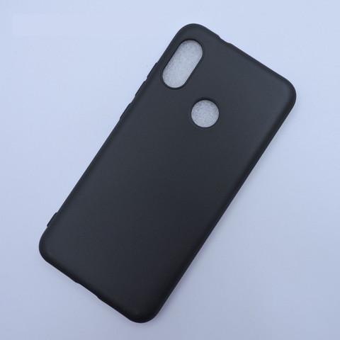 Черный прорезиненный чехол для Xiaomi Mi A2 Lite