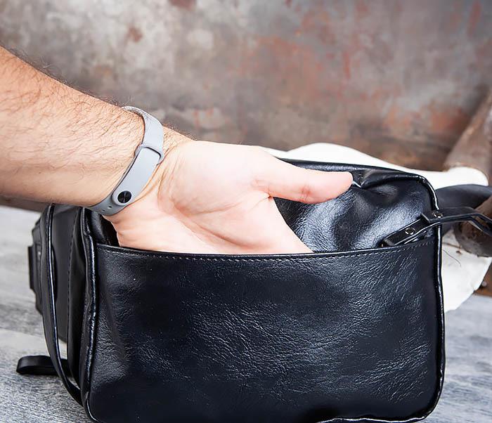 BAG452-1 Мужской рюкзак черного цвета с одной лямкой фото 12