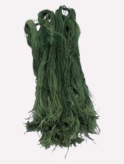 Джут крашенный - изумрудный, 400 грамм